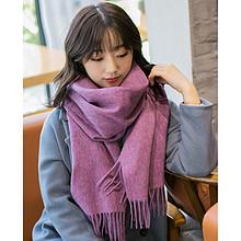 秋冬季超大纯色羊毛围巾 29元包邮(129-100券)