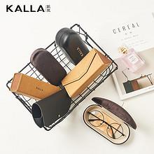 时尚便携# KALLA凯岚 可折叠手工复古便携眼镜盒 14.9元包邮(39.9-25券)