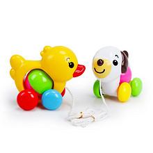 启蒙玩具# 怀乐 宝宝拖拉小车玩具0-1岁 9.9元包邮(19.9-10券)
