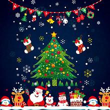 圣诞必备# 圣诞节装饰品 玻璃贴纸创意墙贴  4.9元(9.9-5券)
