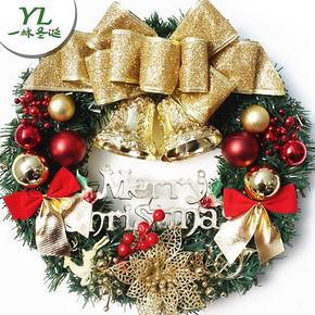 圣诞必备单品# 一林圣诞 花环门挂橱窗圣诞装饰品   6.9元包邮(9.9-3券)