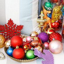白菜价# 圣诞装饰品桶装彩球大礼包 5.9元包邮(15.9-10券)
