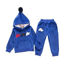 保暖舒适# 跨跨鱼 秋季休闲儿童卡通圣诞套装  49元包邮(59-10券)