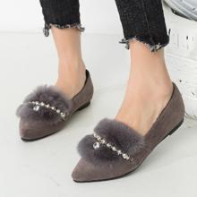 时尚百搭# 大东 冬季新款欧美套脚加绒平底鞋  79元包邮(109-30券)
