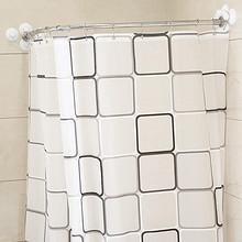 防水防霉# u弧形浴帘杆伸缩免打孔卫生间帐罩1.8*2m  16元包邮(21-5券)