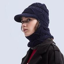亲肤柔软# VIS ROCK 冬天男女士毛线围脖一体针织帽  29.8元包邮(49.8-20券)