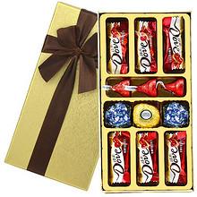 纵享丝滑# 费列罗+德芙  巧克力礼盒装圣诞礼物    14.9元包邮(39.9-25券)