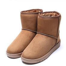 保暖舒适# 女士加绒保暖防滑雪地靴短靴   29.9元包邮(39.9-10券)