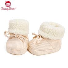 加绒加厚# 芭比班纳 天然有机彩棉加绒保暖婴儿鞋  26元包邮(46-20券)