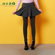 柔软舒适# phoebedarling女小褶裙加绒打底裤裙裤  29元包邮(89-60券)