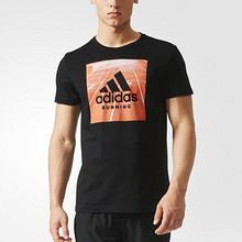 大牌年货节#  阿迪达斯 男士黑色时尚百搭短袖T恤  直降至72包邮
