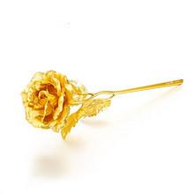 情人节礼物# 金箔玫瑰花创意摆件  12.9元包邮(132.9-120券)