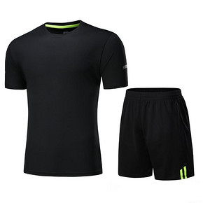 专业健身# 健身服男跑步速干运动紧身衣两件套 24.9元包邮(49.9元-25券)