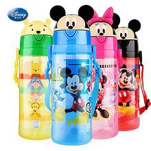童真童趣# 迪士尼 儿童便携卡通两盖吸管杯550ml 19元包邮(39-20券)