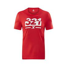 21号0点抢# 特步 男女款321跑步文化T恤衫(库存1500件) 3.21元包邮