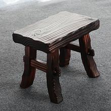 坚固耐用# 小板凳家用实木复古换鞋凳  38元包邮(48-10券)