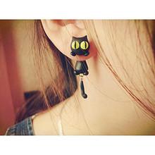 创意DIY# 日韩范可爱猫咪925纯银耳钉 20元包邮(23-3券)