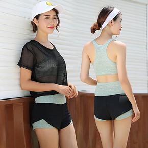 性感网纱# 女士夏季专业瑜伽服3件套装 79元包邮(109-30券)