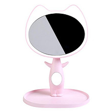 触摸调光# 十度良品 kiss猫高清LED台灯化妆镜 69元包邮(129-60券)