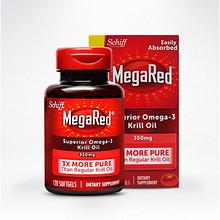 血管清道夫# 美国进口MegaRed磷虾油120粒  149元包邮(199-50券)