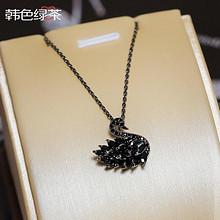 精致百搭# 黑天鹅项链韩版时尚潮流锁骨链  29元包邮(39-10券)