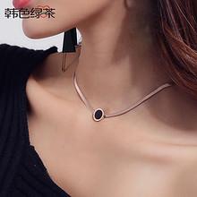 时尚百搭# 性感镀18K玫瑰金项链钛钢颈链项圈  29.9元包邮(39.9-10券)