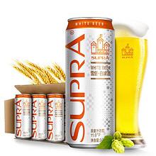 麦香浓郁#  珠江 啤酒雪堡白啤500mL*12罐   79元包邮(129-50元券)