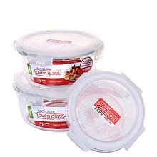 耐热保鲜# 乐扣乐扣 透明圆形玻璃保鲜饭盒  21.5元包邮(31.5-10券)