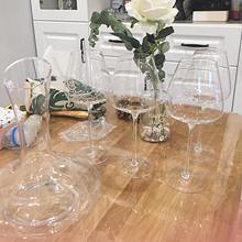 健康无铅# 家用欧式奢华无铅水晶高脚大号玻璃杯 9.9元包邮(19.9-10券)
