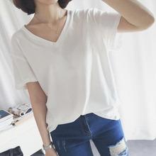 宽松休闲# 夏季纯色小清新韩版短袖T恤 19.9元包邮(49.9-30券)