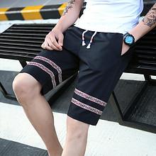 青春流行# 男夏季沙滩短裤七分休闲裤 19.9元包邮(49.9-30券)