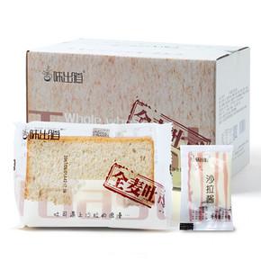 日期新鲜# 味出道 全麦吐司夹心面包切片1kg 21.8元包邮(26.8-5券)