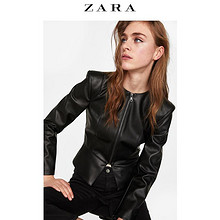 反季好价# 天猫 ZARA 女士带垫肩仿皮夹克 199元包邮!