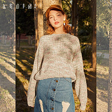 反季好价# 天猫 乐町 女士宽松套头长袖针织衫 *2件 159元包邮,折89.3元/件