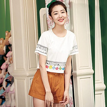 轻盈俏皮# 新款潮夏季卡通短袖chic韩版短款  69元包邮(99-30券)