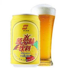 果香浓郁# 珠江啤酒 菠萝味啤酒饮料24罐330mL  59.9元包邮(69.9-10券)