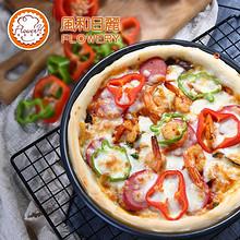 质地坚硬#风和日丽6/8/9/10/12寸披萨盘烤盘圆形家用pizza盘烘焙模具烤箱用 9.9元包邮(12.9-3券)