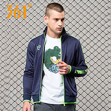 柔软舒适# 361°  男装爆款秋季长袖立领运动夹克 54元包邮(79-25券)