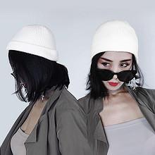 弹性十足#女士新款日系毛线瓜皮帽 9.9元包邮(19.9-10券)