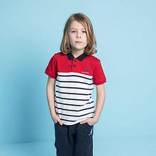 全棉质感#Nautica 新款男童短袖T恤条纹Polo衫 59元包邮(119-60券)