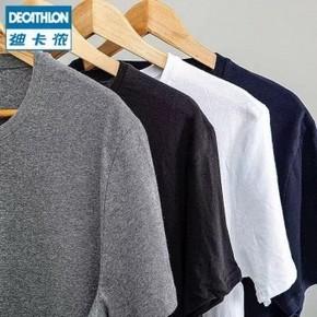天猫 DECATHLON 迪卡侬 男士运动T恤 4件装/6件装 79元包邮/99.5元包邮(合19.75元/