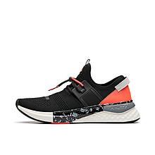 安踏 一体织机能休闲鞋 11925553 黑/白/橙 到手价499