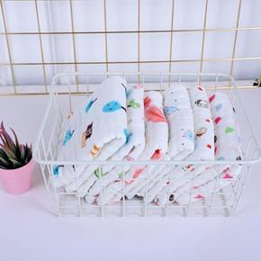 婴之礼 宝宝口水巾手帕婴儿用品纯棉纱布方巾新生儿洗澡洗脸毛巾 7.8元