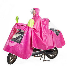 电瓶车有袖亲子雨衣雨披大码 49元包邮(59-10券)
