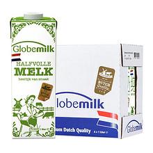 荷兰原装进口 荷高部分脱脂牛奶1L*6盒3.6%优乳蛋白 65元