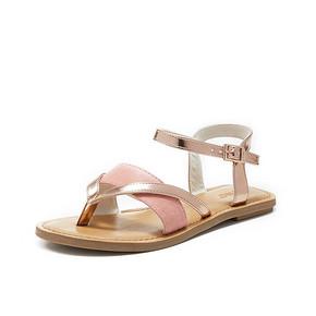 TOMS女鞋LEXIE夹趾女鞋夏季平底休闲凉鞋女脚环扣带凉鞋 *2件 359.16元(合179.58
