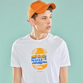 佐丹奴T恤衫 男装字母印花圆领短袖T恤 男士纯棉体恤衫13099202 49.9元