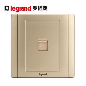 tcl罗格朗开关插座面板美涵金色一位电脑墙壁电源86型 *3件 81.21元(合27.07元