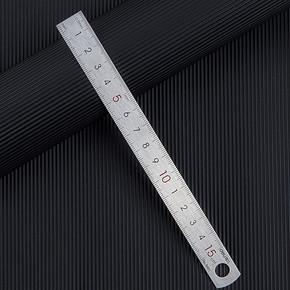 Deli 得力 不锈钢直尺 15cm 2.2元(需用券) ¥2