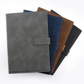 加厚A5 B5皮面笔记本子文具套装日记本简约皮面带扣记事本礼盒大号会议本